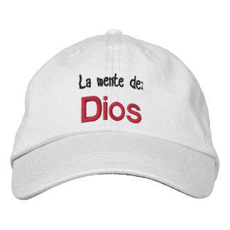 GORRA VARONIL LA MENTE DE DIOS EMBROIDERED HATS