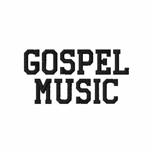 Gospel Music Embroidered Hoody
