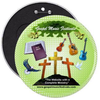 Gospel Music Festivals 6 Cm Round Badge