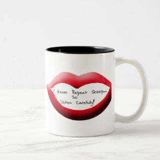 Gossip Lips, Gossip Lips Two-Tone Coffee Mug