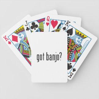 got banjo? bicycle playing cards