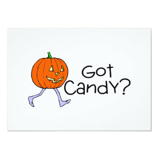 Got Candy Pumpkin Head Custom Invite