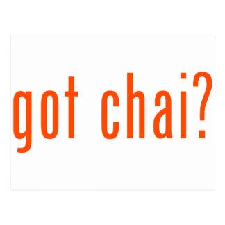 got chai? postcard