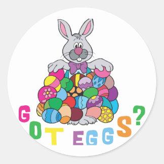 Got Easter Eggs? Round Sticker