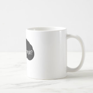 Got Freethought? (Black) Basic White Mug