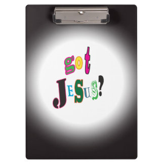 Got Jesus Black Oval Abstract Clipboards