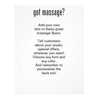 Got Massage In Black Ink Personalized Flyer