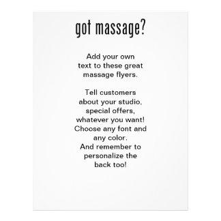 Got Massage? In Black Ink Flyer