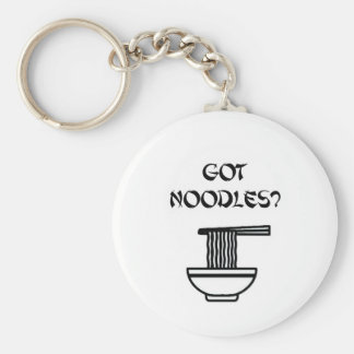 Got Noodles? Basic Round Button Key Ring