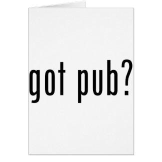 got pub? greeting card