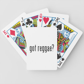 got reggae? bicycle playing cards