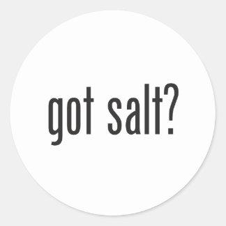 got salt round sticker