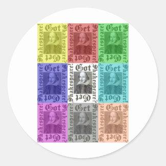 Got Shakespeare? Get Shakespeare Classic Round Sticker