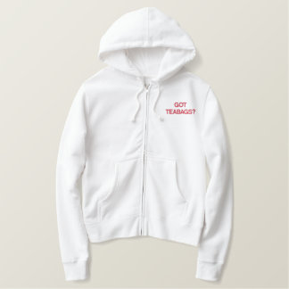 GOT TEABAGS? EMBROIDERED HOODIE