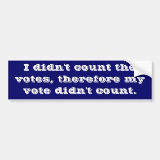 Got Voter Fraud? Car Bumper Sticker