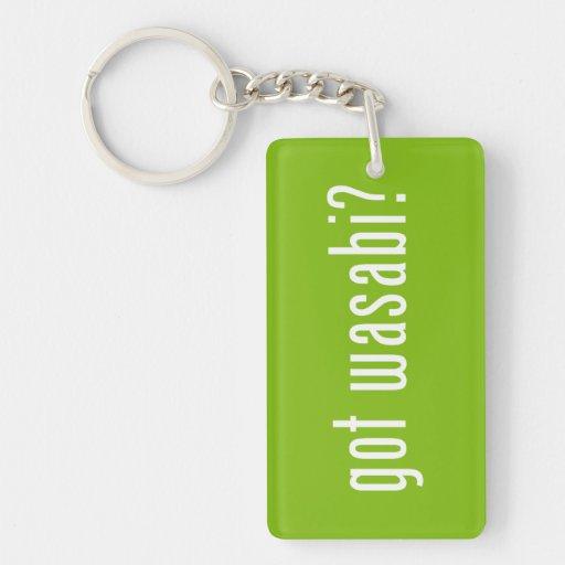 got wasabi? acrylic keychains