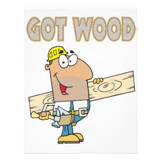got wood carpenter humor funny design 21.5 cm x 28 cm flyer