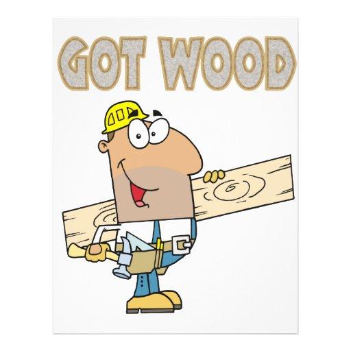 got wood carpenter humor funny design flyer design