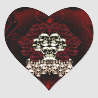 Goth Design-2012 Heart Sticker