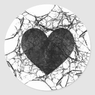 Goth Grunge Shattered Heart Stickers