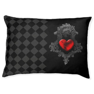 Goth Heart Large Pet Bed
