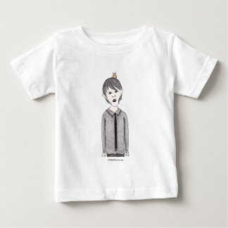 Goth Kid with Pet Owl Baby T-Shirt