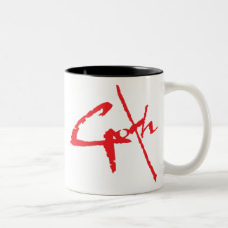 goth_logo Two-Tone coffee mug