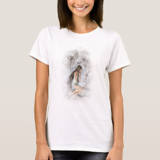 Gothic Angel and Her Dove Vignette T-Shirt
