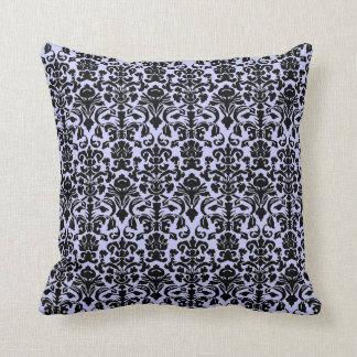 Gothic Black and purple damask pillow