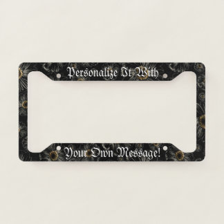 Gothic Black Daisies Personalised