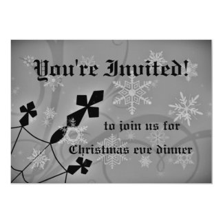 Gothic Christmas dinner party Card