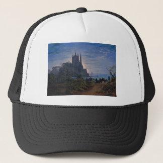 Gothic Church on a Rock by the Sea by K. Schinkel Trucker Hat