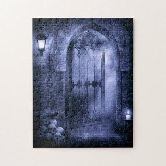 Gothic Crow Gate Puzzle