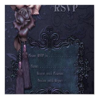Gothic Dark Wedding RSVP card