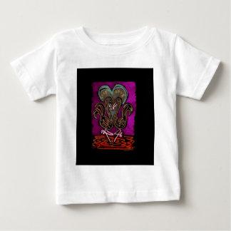 Gothic Flamingo Love neon black boarder Baby T-Shirt
