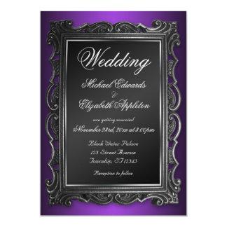 Gothic Frame Purple Wedding Invitations