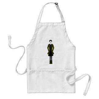 Gothic Girl Character Standard Apron