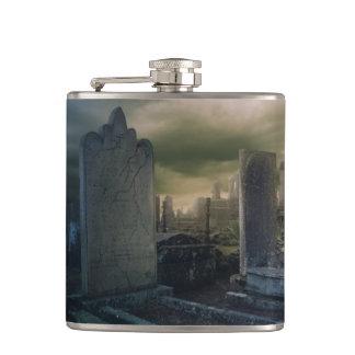 Gothic Graveyard Whiskey Flask