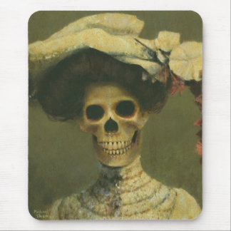Gothic Lady Skeleton Mousepad