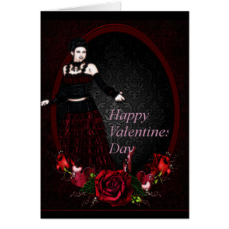 Gothic Mistress Valentines Day Card