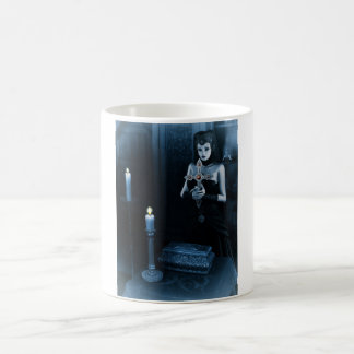 Gothic Nun holding a cross Coffee Mug