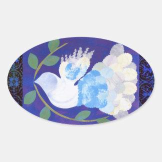Gothic Peace Spirit Oval Sticker