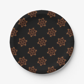 Gothic Pentagram Witches Coven Style Paper Plate