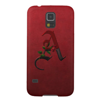 Gothic Rose Monogram A Cases For Galaxy S5