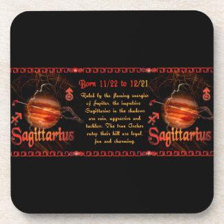 Gothic Sagittarius zodiac astrology by Valxart.com Coaster