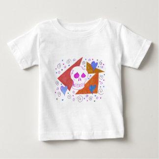 Gothic Skul pink orange Baby T-Shirt