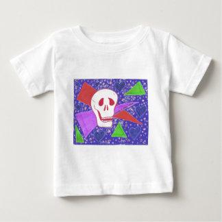Gothic Skull blue heart indigo Baby T-Shirt