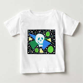 Gothic Skull Green Dot black 2 Baby T-Shirt
