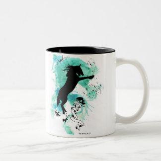 Gothic Stallion Two-Tone Coffee Mug
