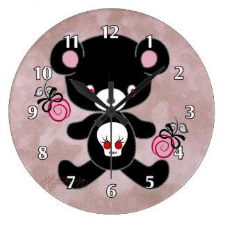Gothic Teddy Bear Wallclock